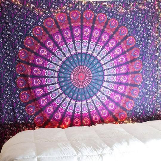 Queen Wall Hanging MANDALA TAPESTRY Hippie Bohemian Bedspread Yoga Home Decor