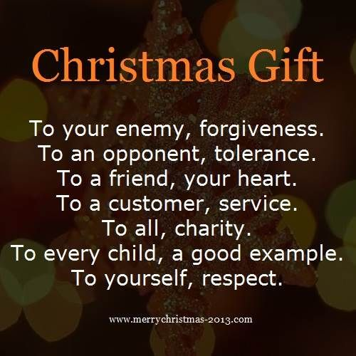 Quotes About Christmas Gifts: Short Christmas Gifts Poems For Children To Recite At