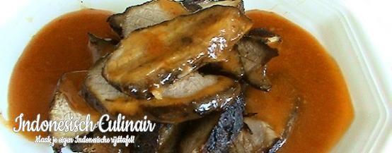Babi Panggang - Geroosterd varkensvlees in zoete saus - Roasted pork in sweet sauce
