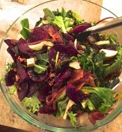 Cupcakes and Sequins: Roasted Bacon and Beet Salad