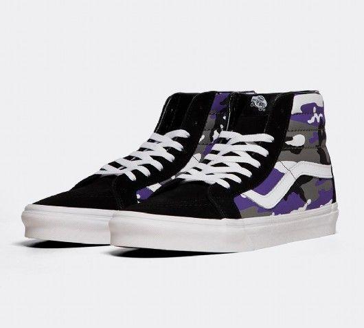 Vans SK8-Hi Pop Camo Trainer   Purple
