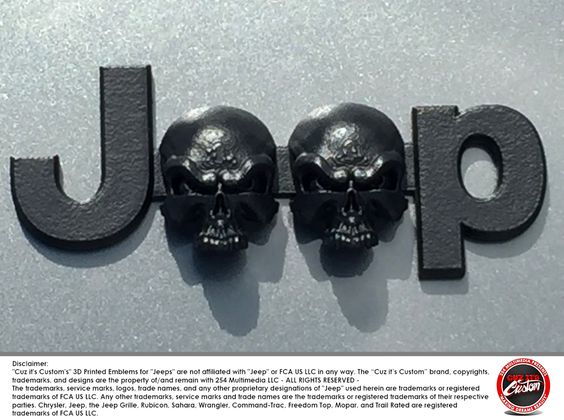 #CuzitsCustom Wicked Skulls Emblem for Jeeps