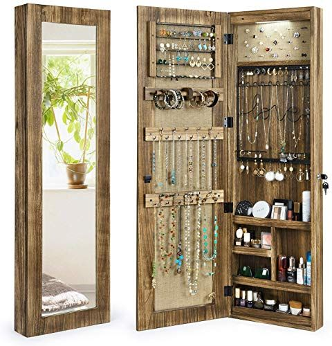 New Sriwatana Jewelry Armoire Cabinet Solid Wood Jewelry