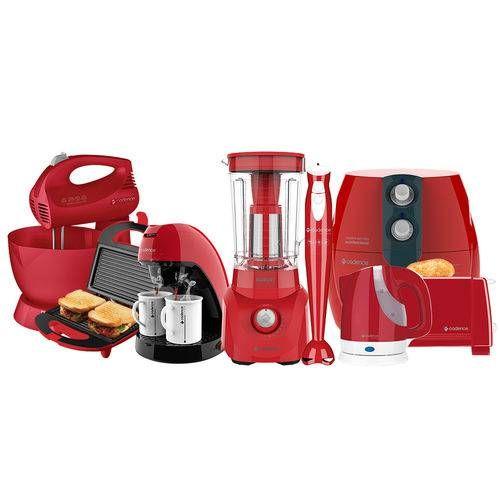 Kit Colors Vermelho Cozinha Completa Cadence Cozinha Completa