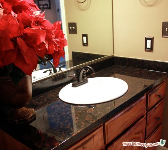 Bathroom Laminate Countertops: Ugly Counters? Learn How To Refinish Laminate Counters To