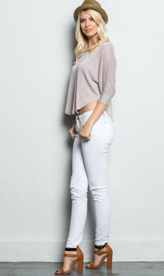 Mary Sweater Top in Cream