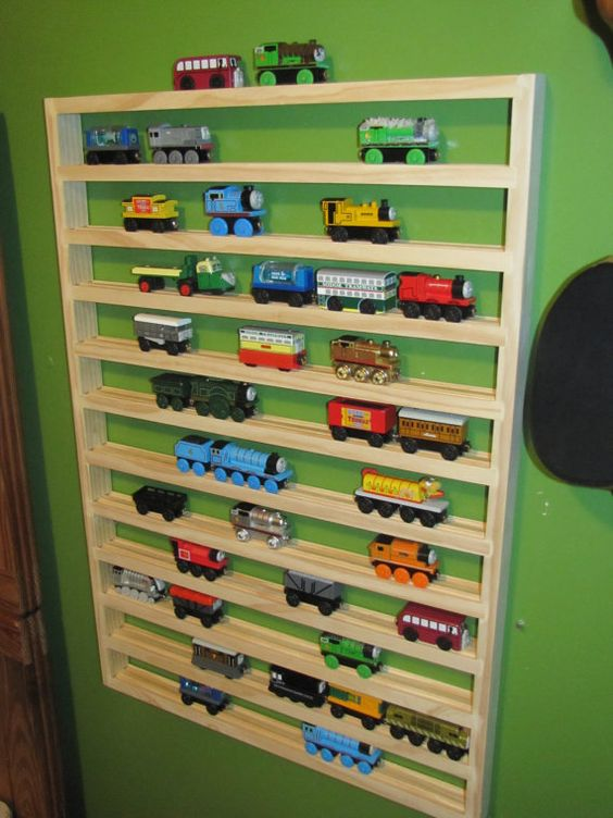 Model Train Racks : Extra large thomas train storage rack for the boys and