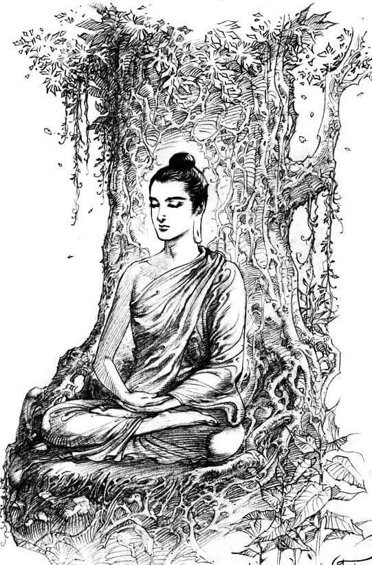 Buddhist Paintings Drawings With Images Buddha Drawing
