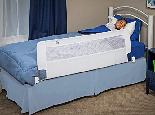 Regalo Swing Down 54 Inch Extra Long Bed Rail Guard With Reinforced Anchor Safety System Extra Long Bed Bed Rails Bed Rails For Toddlers