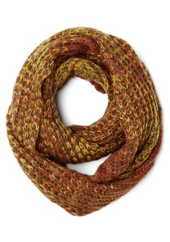Seasonal Inspiration Circle Scarf in Autumn, #ModCloth