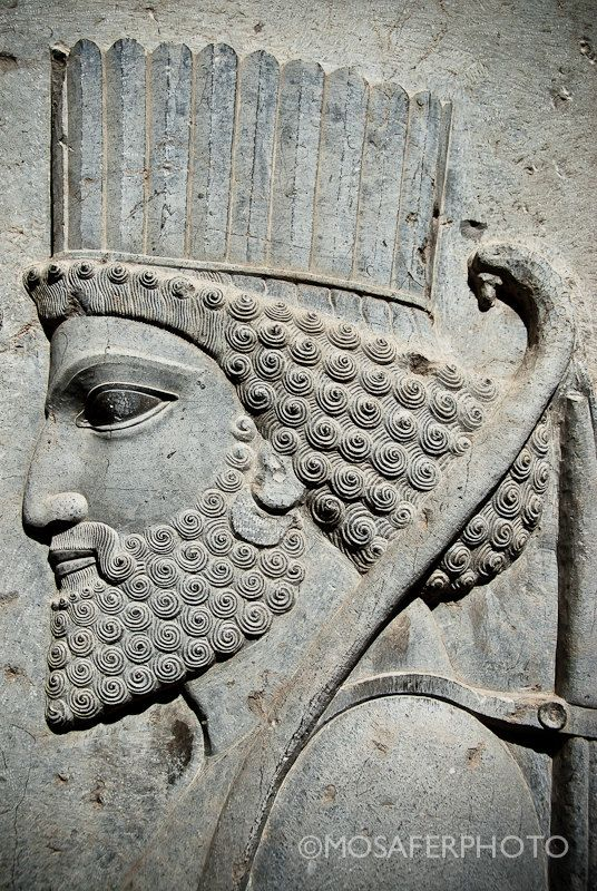 An ancient carving from Persepolis.