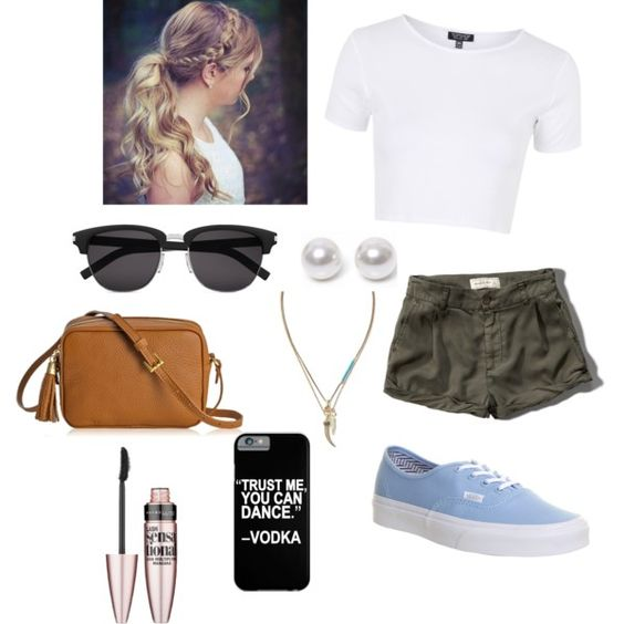 hanging with Friends by fabi3ca on Polyvore featuring polyvore fashion style Topshop Abercrombie & Fitch Vans GiGi New York Banana Republic Nouv-Elle Yves Saint Laurent Maybelline