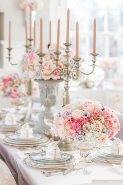 Marie Antoinette Inspiration Shoot Wedding Centerpieces