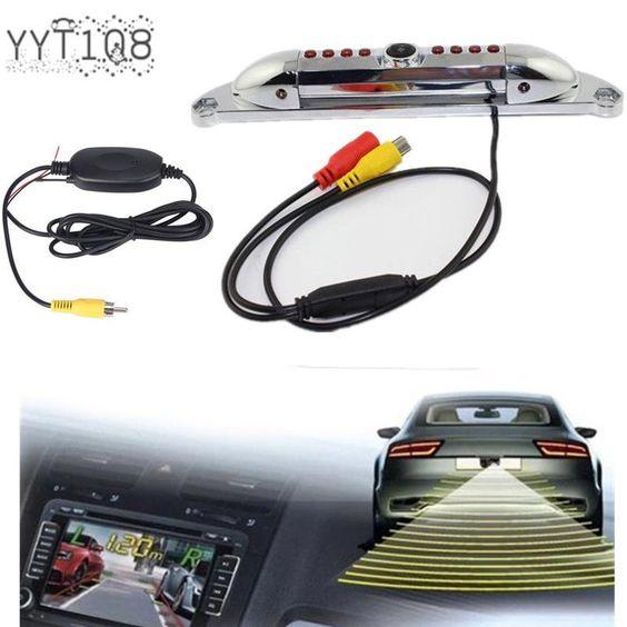 1/4 CMOS Licence Plate Waterproof Rear View Mirror Night Vision Bachup Camera…
