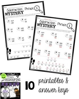 math worksheet : addition and subtraction math and student on pinterest : Subtraction Mystery Picture Worksheet
