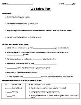 safe food handling test answers