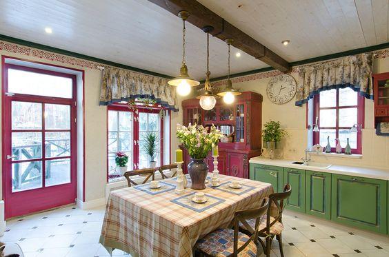 Прованс для кухни в загородном доме