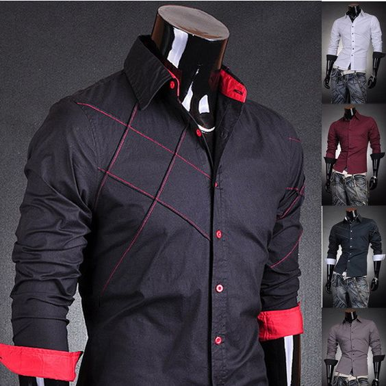 2013 Jeansian Mens Fashion Cotton Designer Cross Line Slim Fit ...
