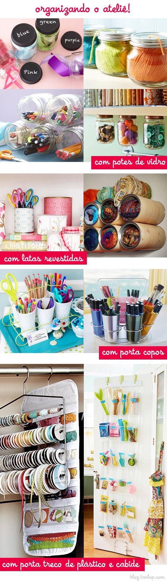 Organize o seu ateliê com criatividade via @Tanlup: