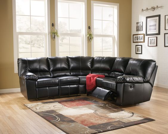 Signature Design by Ashley Jean 2 Peice Bonded Leather Reclining Sectional