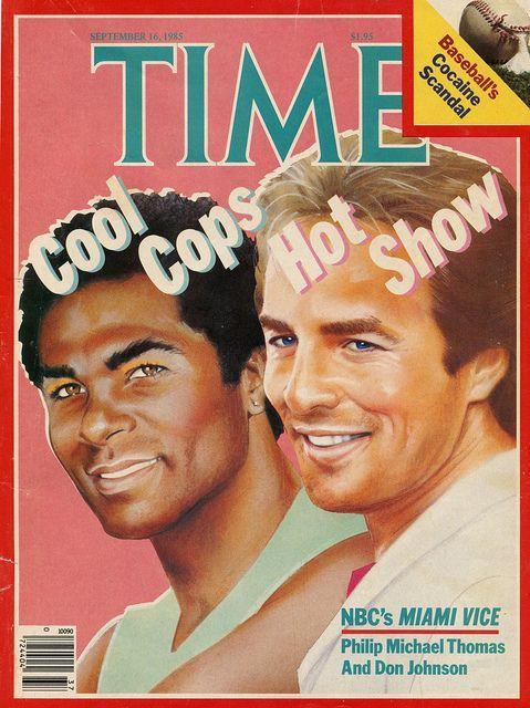 Miami Vice Cover of Time magazine (1985) #TV #television