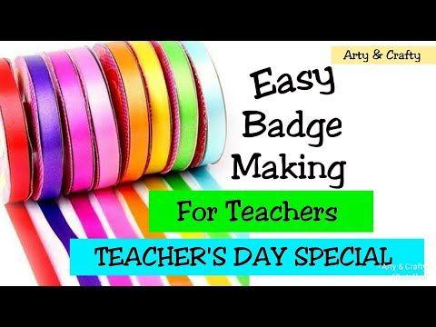 Teachers Day Gift Idea Badge For Teachers Giftideas Handmade Teachers Day Gift By Arty Crafty You Teachers Day Gifts Teachers Day Teachers Day Special