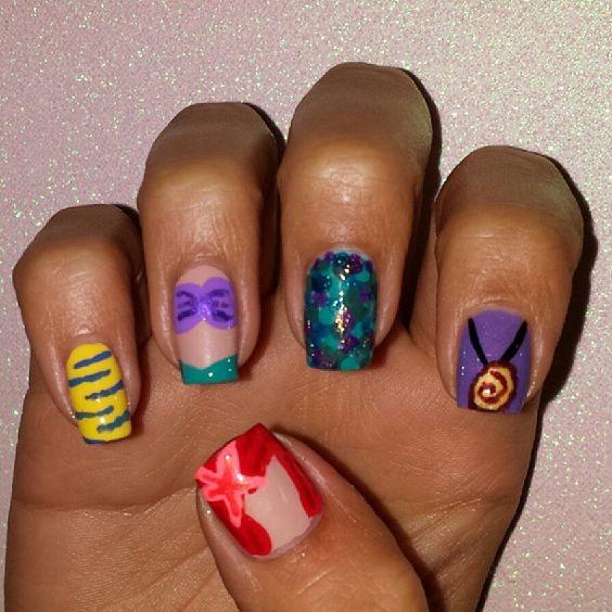 nail art princesas de Disney