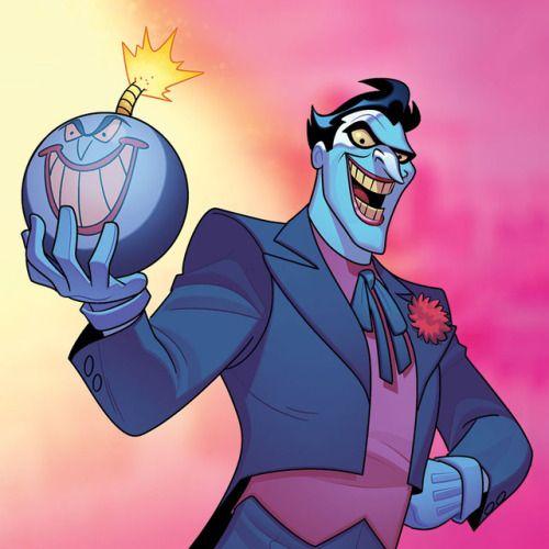 Art From The Batman The Animated Series Gotham Under Siege Board Game Joker Cartoon Joker Art Joker Animated