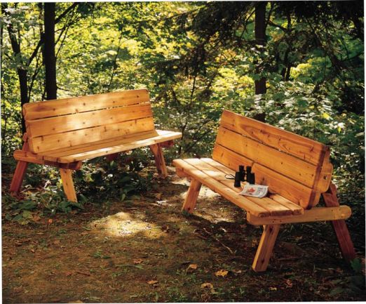 Park Bench Turns Into A Picnic Table For Two Wood Projects Intermediate Expert Pinterest