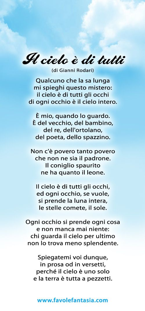 Gianni Rodari Filastrocche Parole Italiane E Frasi In