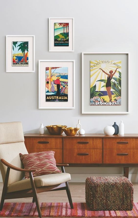Vintage Style Wall Decoration In 2020 Wall Decor Living Room Vintage Posters Decor Vintage Travel Decor
