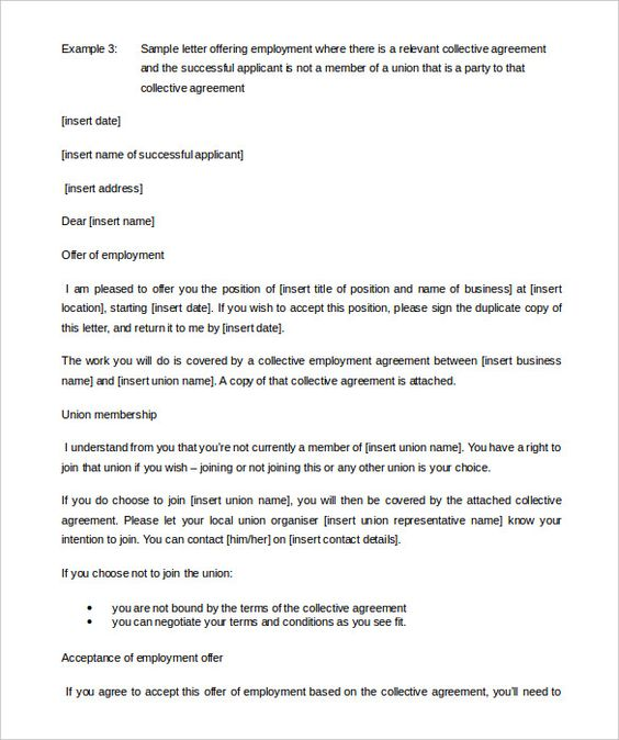 appointment letter templates free sample example format formats - employment agreement in pdf
