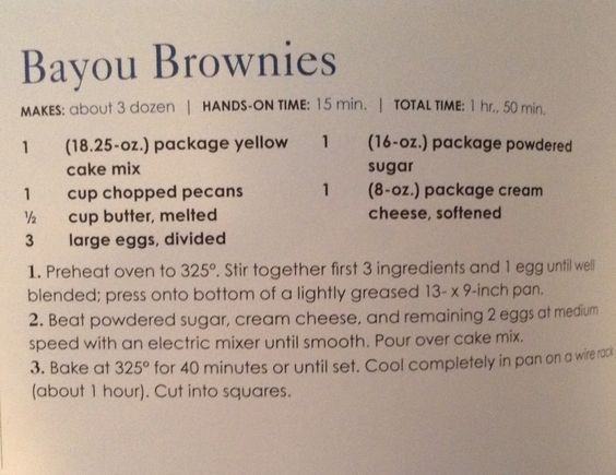 Bayou Brownies