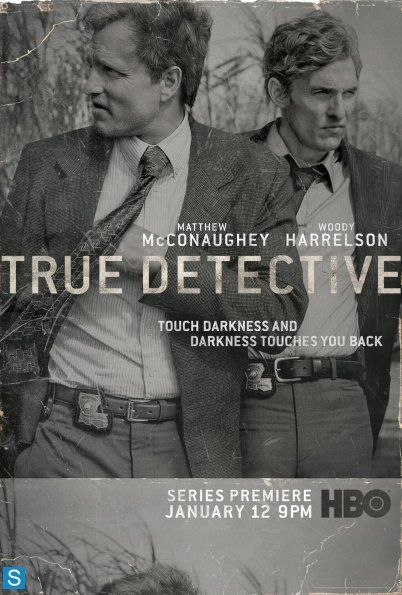 True Detective is an American television anthology drama series on HBO created and written by Nic Pizzolatto. Season one stars Matthew McConaughey, Woody Harrelson, Michelle Monaghan, Kevin Dunn, Tory Kittles, Michael Potts, Alexandra Daddario, and Elizabeth Reaser, and utilizes multiple timelines to trace two Louisiana State Police Criminal Investigations Division homicide detectives' hunt for a serial killer in Louisiana across seventeen years.