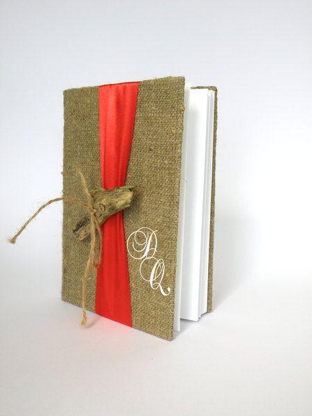 Gästebuch+aus+Leinen+mit+Treibholz+von+Traumhochzeit+auf+DaWanda.com