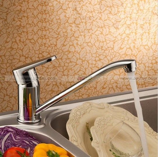 Single Handle Chrome Finish Brass Kitchen Sink Faucet Rotatable Spray JFLG70 http://www.joyfay.com/us/single-handle-chrome-finish-brass-kitchen-sink-faucet-rotatable-spray-jflg70.html
