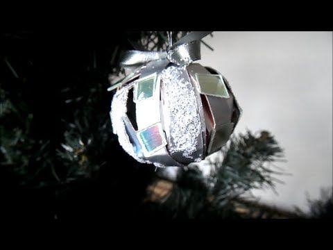 Bolinha para árvore de Natal, com caixa de leite e cds - YouTube