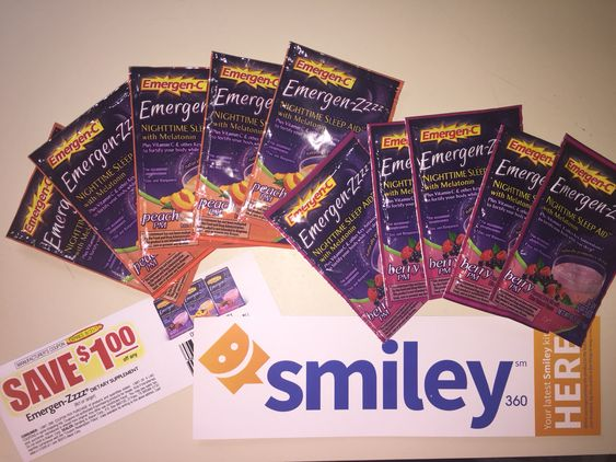 "Free Sample of Emergen-zzzz from the makers of emergen-c. Helps you fall asleep with melatonin in peach and berry flavors. Sign for free samples sent to your house using this link :  <a href=""http://www.smiley360.com"" target=""_blank""><img src=""https://s3.amazonaws.com/sml-images/smiley360_images/joinsmiley360_r3.png"" alt=""Join Smiley360"" width=""125"" height=""125"" /></a>"