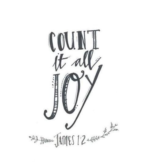 consider all joy when you meet various trials