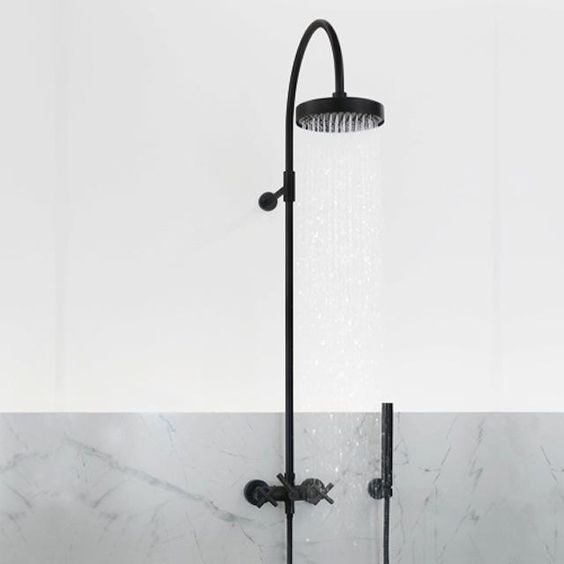 Dornbracht's Tara Black Edition Wall-Mounted Shower Mixer