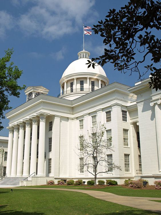 Alabama State Capitol, from the southwest