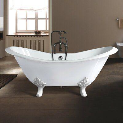 Chevington Grace 72 X 30 Clawfoot Soaking Bathtub Feet Finish White In 2020 Slipper Tubs Soaking Bathtubs Clawfoot