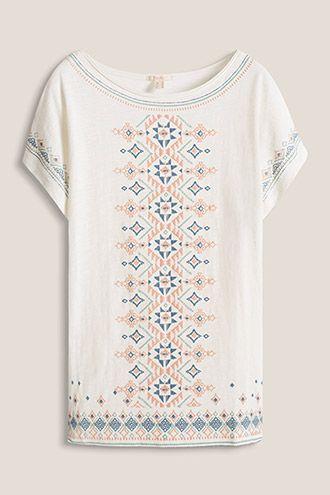 Esprit - Slub jersey T-shirt in 100% cotton at our Online Shop