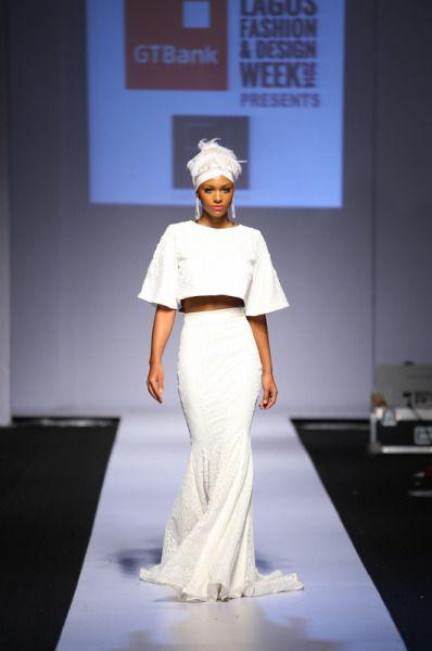 Highlights from Lagos Fashion and Design Week 2014  Brand: Ejiro Amos Tafiri  Designer: Ejiro Amos Tafiri  Photo Credit: Kola Oshalusi (Insigna)  cutfromadiffcloth.tumblr.com
