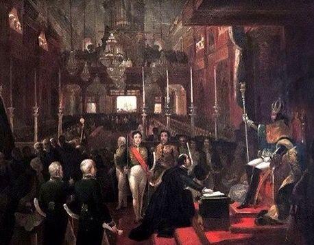 Sagracao do Imperador Pedro I do Brasil (pintura de Jean Baptiste Debret )