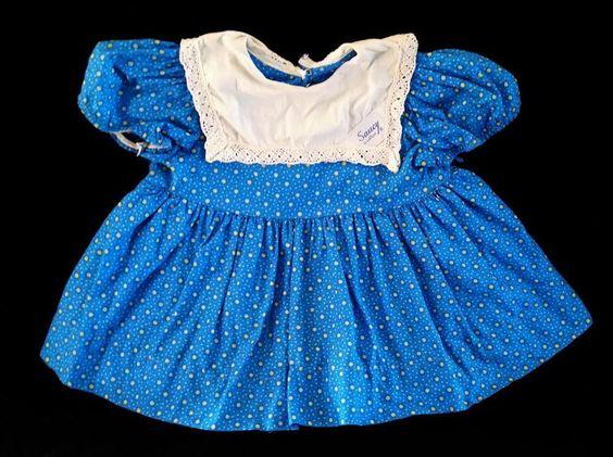 "Original 1960 ~ 32"" Saucy Walker Playpal ~ Tagged BLUE Dress ~ Missing Apron  NR #ClothingAccessories"