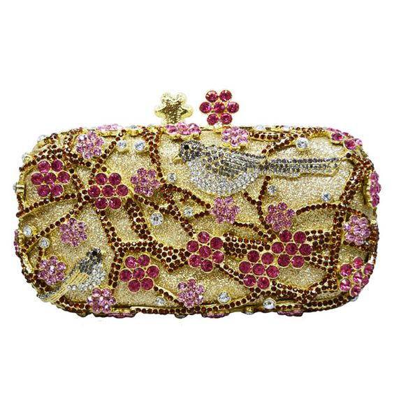 Wintersweet Clutch Bags Chinese Style Plum Blossom Tree Birds Crystal Evening Bags Wedding Bride     https://www.lacekingdom.com/