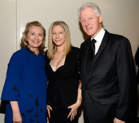 Hillary Clinton, Barbra Streisand And Bill Clinton | GRAMMY.com