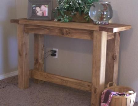 Tryde Console Table from Ana Whiteplans... want to create this whole set for the living room!     This would be awesome behind out loveseat