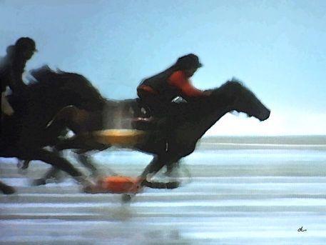 'Strand-Galoppade - Diptychon links' von Dirk h. Wendt bei artflakes.com als Poster oder Kunstdruck $18.03